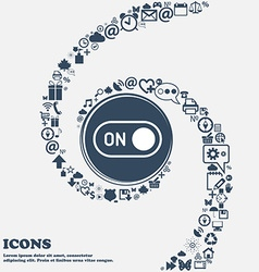 Start icon in the center around the many beautiful vector