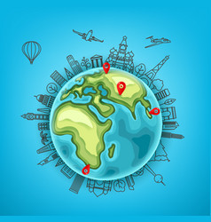travel destination concept vector image