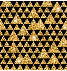 Triangle seamless pattern black and gold 1 vector