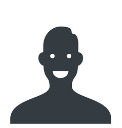 user avatar icon flat isolated vector image