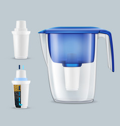 water filters realistic set vector image