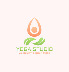 yoga studio isolated abstract logo template vector image