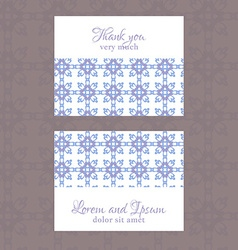 Business Card with geometric floral pattern vector image vector image