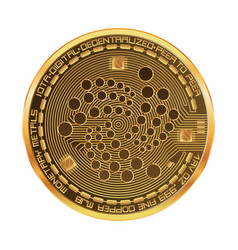 crypto currency iota golden symbol vector image vector image