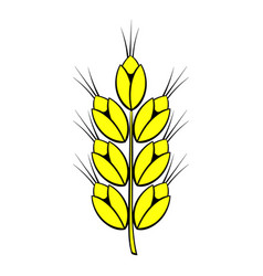ear of of wheat icon cartoon vector image vector image
