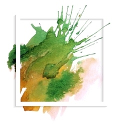 Frame banner with spot watercolor vector image vector image
