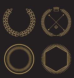 set of outline emblems and badges - abstract vector image vector image
