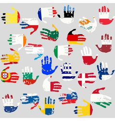 union countries flags vector image vector image