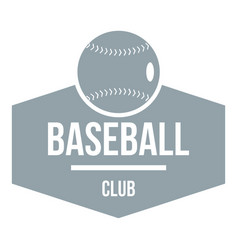 baseball logo simple gray style vector image vector image