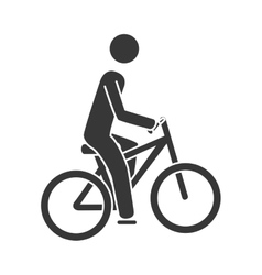 bike sport cycling icon vector image