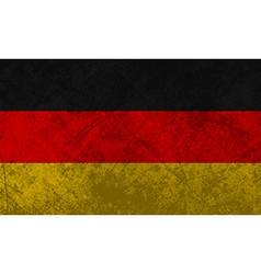 German Flag Grunge vector image
