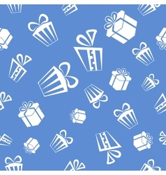 Gift pattern background vector image vector image