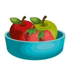 nutrition healthy food icon vector image
