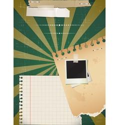 Retro flyer vector image