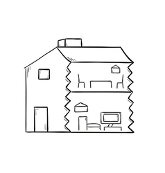 sketch of the house vector image vector image