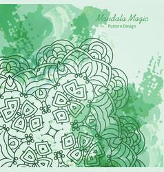 wonderful flower mandala vector image