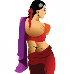 beautiful Indian vector image vector image