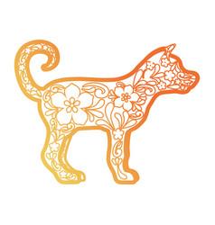 dog sculpture des vector image