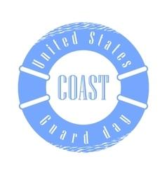 United States Coast Guard Day Holiday vector image