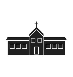 building church religion christianity design vector image