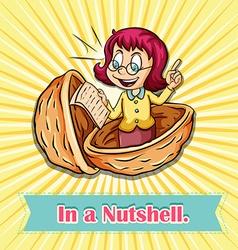 English idiom in a nutshell vector image
