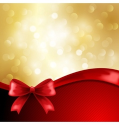 Holiday gift cards with ribbon vector image