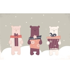 holiday of a cute polar bears vector image