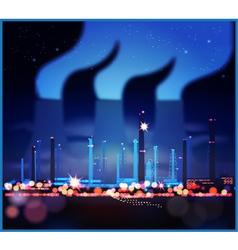 Industrial night lights vector image vector image