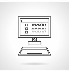 Online marketing flat line design icon vector image vector image