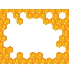 orange background about honeycombs vector image vector image
