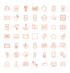 49 mobile icons vector image