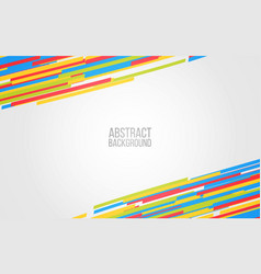abstract color lines background colorful shapes vector image