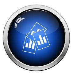 Analytics sheets icon vector