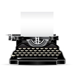Antique typewriter vector
