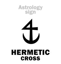 Astrology hermetic cross vector