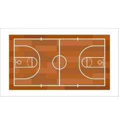 Basketball field vector