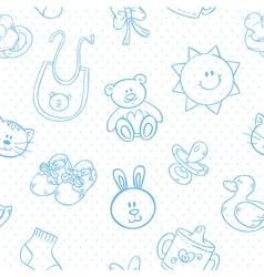 batoys cute cartoon set seamless pattern vector image