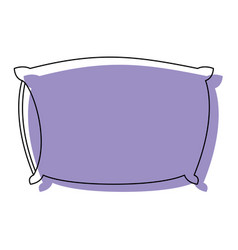 Bed pillow purple watercolor silhouette on white vector
