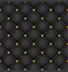 Black background from quilted fabric vector