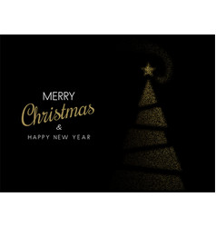 black merry christmas and happy new year greeting vector image