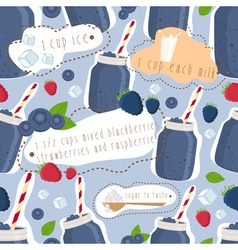 Blue Smoothie Patterned Background vector image