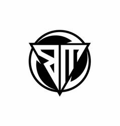 Bm logo monogram design template vector