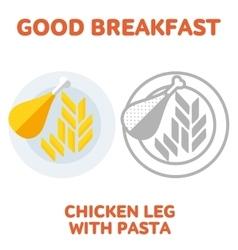 breakfast 1205 elements 02 vector image