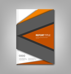 Brochures book or flyer with abstract design vector