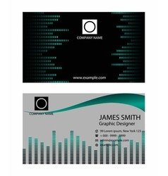 Business card with music background vector