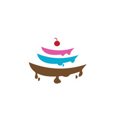 cake icon design template isolated vector image