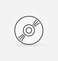 Cd concept outline icon compact disc vector