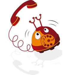 Cheerful phone vector image