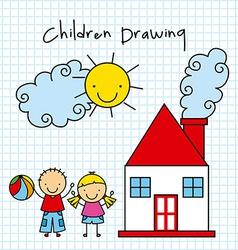 Children drawing design vector