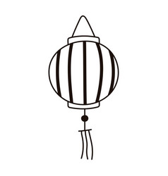 Chinese lantern culture traditional isolated icon vector